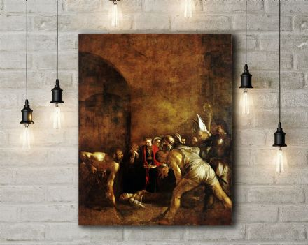 Caravaggio: The Burial of St Lucy. Fine Art Canvas.
